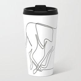 Greyhound Racing Continuous Line Travel Mug