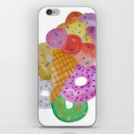 All I Need Is Ice Cream And Donuts! iPhone Skin