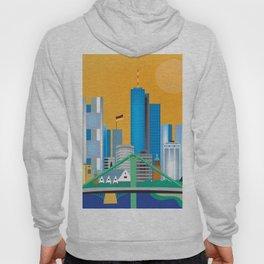 Frankfurt, Germany - Skyline Illustration by Loose Petals Hoody