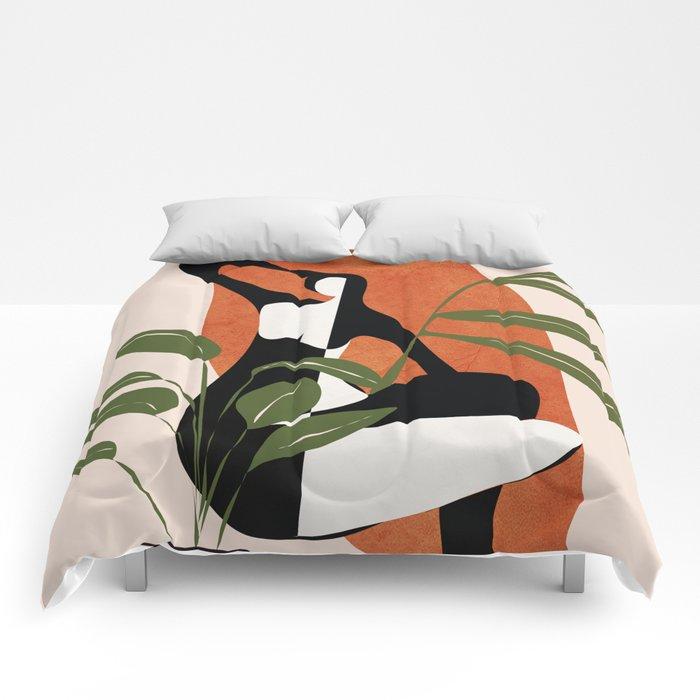 Abstract Female Figure 20 Comforters