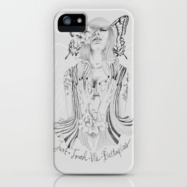Touch Me Butterfly iPhone Case
