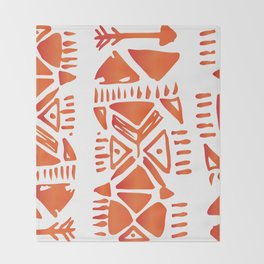 African Tribal Pattern No. 21 Throw Blanket
