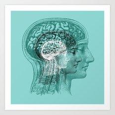 Meditating Brain Art Print