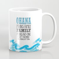 ohana Mugs featuring ohana means family lilo and stich cerulium by studiomarshallarts