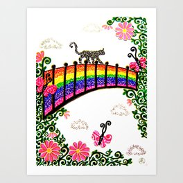 The Rainbow Bridge Art Print