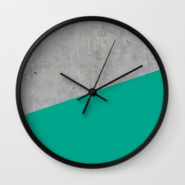 Concrete with Arcadia Color Wall Clock