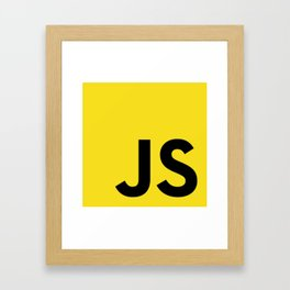 Javascript (JS) Framed Art Print
