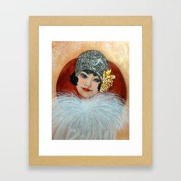 Clara, a Lady with a fancy hat Framed Art Print