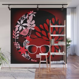 Afro Diva : Sophisticated Lady Red Wall Mural