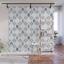 Delft Blue Holland Pottery Wall Mural