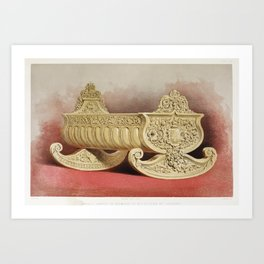 Centre piece in silver from the Industrial arts of the Nineteenth Century (1851-1853) by Sir Matthew Art Print
