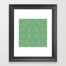 Ab Lace Green Framed Art Print