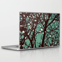 night Laptop & iPad Skins featuring Night Lights by elle moss