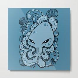 Octopus Squid Kraken Cthulhu Sea Creature - Sailor Blue Metal Print
