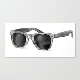 B&W Raybans - Drawing Canvas Print
