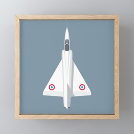 Mirage III Fighter Jet - Slate Framed Mini Art Print
