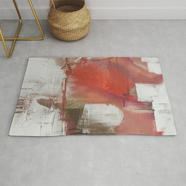 California Sun [2]: a minimal, abstract piece in reds and gold by Alyssa Hamilton Art Rug