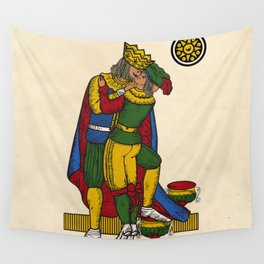 The Kiss (Neapolitan cards) Wall Tapestry