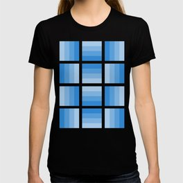 Four Shades of Light Blue T-shirt
