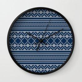 Scandinavian knitted pattern Wall Clock