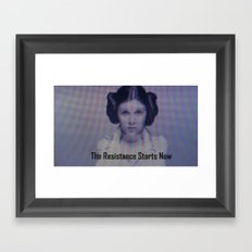 The Resistance starts now Framed Art Print