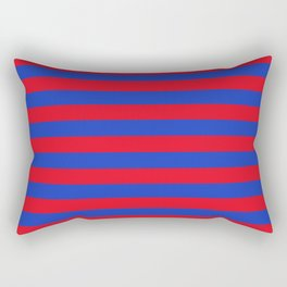 Blue and Red Stripes Rectangular Pillow