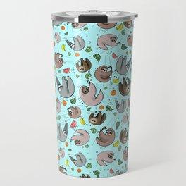 Sloth Pattern Travel Mug