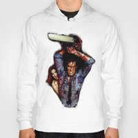 evil dead Hoodies featuring evil dead  by Official Nicolas Cage Cats