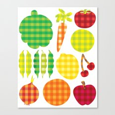 Gingham Goods Canvas Print