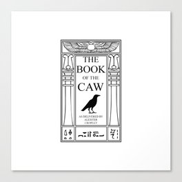The Book of the Caw Canvas Print