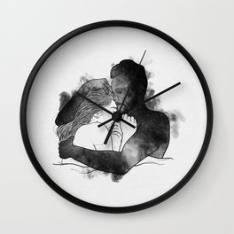 The hug. Wall Clock