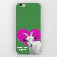 totes iPhone & iPod Skins featuring Totes Ma Goats Pink by BACK to THE ROOTS