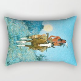 The Outlier by Frederic Sackrider Remington Rectangular Pillow