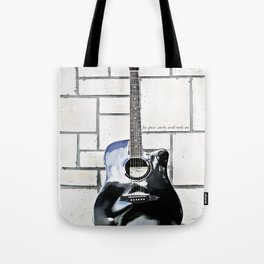 Be Your Song and Rock On in White Tote Bag