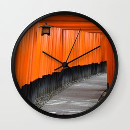 Temple Gates Wall Clock