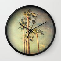 palms Wall Clocks featuring palms by Sylvia Cook Photography