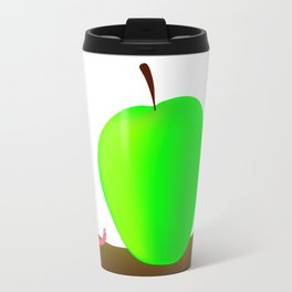 Worm And Big Apple Travel Mug