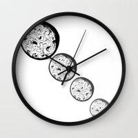 moonrise Wall Clocks featuring Moonrise by Destiny Davison