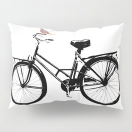 Baker's bicycle with bird Pillow Sham