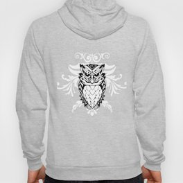 Owl Abstract Psychedelic Bird Artwork Nocturnal Animal Lovers Gifts Hoody