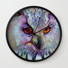 Ethereal Owl Wall Clock