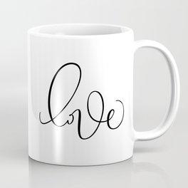 """Love"" Hand Lettering Art Coffee Mug"