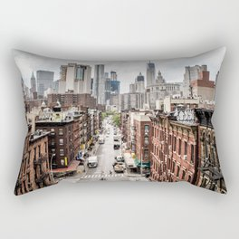 New York City Skyline (Brooklyn, Queens, Manhattan) Rectangular Pillow