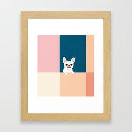 Little_French_Bulldog_Love_Minimalism_001 Framed Art Print