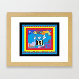 I Open Heart ASL Framed Art Print