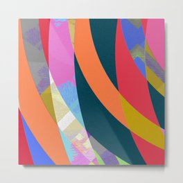 Boring but Pleasant Office Abstract Modern Art Metal Print