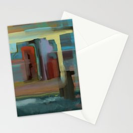 Abstract City, Southwestern Colors Stationery Cards