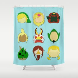 Wind Waker Minimalistic Shower Curtain