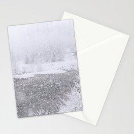 Light Snowfall Stationery Cards