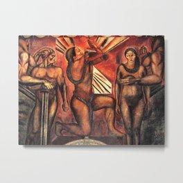 Omnisciencia Mexican - Aztec - Inca - mural at the Casa de los Azulejos by Jose Clemente Orozco Metal Print